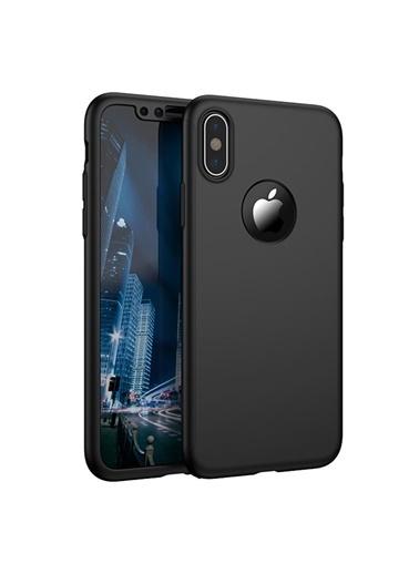 Microsonic iPhone X Kılıf Komple Full Gövde Koruma  Siyah